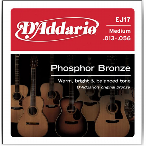 D'Addario EJ17 Medium Phosphor Bronze Acoustic 13-56